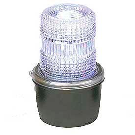 Federal Signal LP3E-120C Strobe light, Edison base, 120VAC, Clear