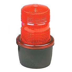 Federal Signal LP3E-120R Strobe light, Edison base, 120VAC, Red