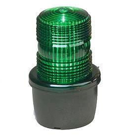 Federal Signal LP3M-120G Strobe light, male pipe mount, 120VAC, Green