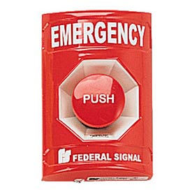 Push Station, Emergency, Red