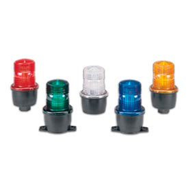 Federal Signal LP3TL-024R Low Profile Steady Burning LED - 24VDC T-Mount Red