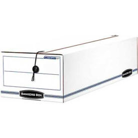 "Fellowes 00018 Liberty® Check And Form Boxes, 24-1/4""L x 9""W x 7-1/2""H, White/Blue - Pkg Qty 12"