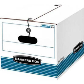 "Fellowes 00025 Stor/File™, Letter/Legal Box, 16""L x 12-1/4""W x 11""H, White/Blue - Pkg Qty 12"