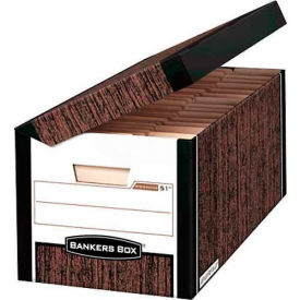 "Fellowes 00052 Systematic®, Letter/Legal Box, 16""L x 13""W x 10-1/4""H, Woodgrain - Pkg Qty 12"