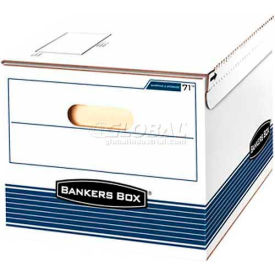"""Fellowes 0007101 Shipping And Storage, Letter/Legal Box, 12-3/8""""L x 15-7/8""""W x 10-1/4""""H, White/Blue - Pkg Qty 12"""