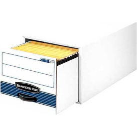 Fellowes 00312 Stor/Drawer® Steel Plus™, Legal Box, 25-1/2x17x11-1/2, White/Blue - Pkg Qty 6