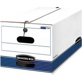 "Fellowes 00705 Stor/File™, Legal Box, 24-1/8""L x 15-1/4""W x 10-3/4""H, White/Blue - Pkg Qty 12"