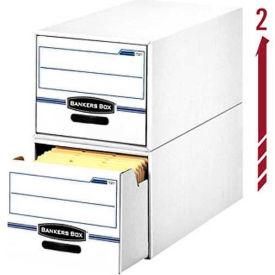 "Fellowes 00721 Stor/Drawer®, Letter Box, 25-1/2""L x 14""W x 11-1/2""H, White/Blue - Pkg Qty 6"