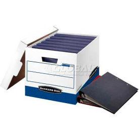 "Fellowes 0073301 Binderbox, Binder Box, 20-1/8""L x 13-1/8""W x 12-3/8""H, White/Blue Package... by"