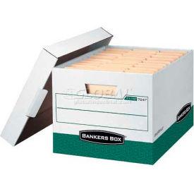 """Fellowes 07241 R-Kive®, Letter/Legal Box, 16-1/2""""L x 12-3/4""""W x 10-3/8""""H, White/Green - Pkg Qty 12"""