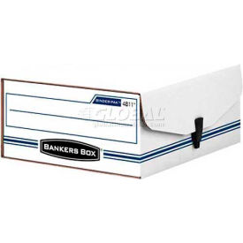 "Fellowes 48110 Liberty Binder-Pak, Binder & Letter Box,11-7/8""Lx9-3/4""Wx4-3/4""H, White/Blue - Pkg Qty 12"
