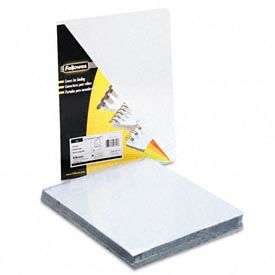 "Fellowes® Transparent PVC Presentation Covers, Oversized, 11-1/4"" x 8-3/4"", 100/pack - Pkg Qty 5"