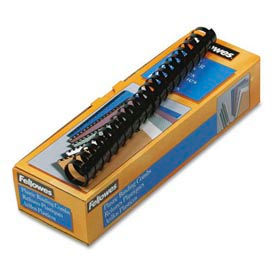 """Fellowes® Plastic Combs - Round Back, 1"""", 200 Sheets, Black, 10/Pack - Pkg Qty 20"""