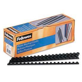 "Fellowes® Plastic Combs - Round Back, 5/16"", 40 Sheets, Black, 100/PK - Pkg Qty 30"