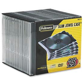 NEATO®  Thin CD Jewel Case--Clear, 25 pack - Pkg Qty 6