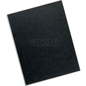 "Fellowes®  Linen Presentation Binding Covers, 8-1/2"" x 11"" Letter Size, Black, 200 Pack - Pkg Qty 2"