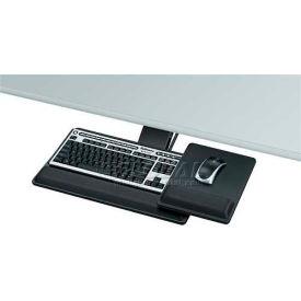 "Fellowes® 8017901 Designer Suites Premium Keyboard Tray, 21-3/4"" Track Length, Black"