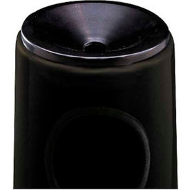 "Urn And Trash Receptacle, Black, 6.5 gal capacity, 12""Dia x 27""H"