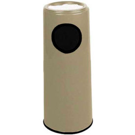 "Sand Urn And Trash Receptacle, Gray, 6.5 gal capacity, 12""Dia x 27""H"