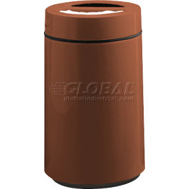 "Round Ash And Trash Receptacle, Burgundy,15 gal capacity, 16""Dia x 28""H"