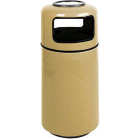 "Sand Urn And Trash Receptacle, Almond,15 gal capacity,16""Dia x 37""H"
