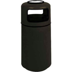 "Sand Urn And Trash Receptacle, Black,15 gal capacity,16""Dia x 37""H"