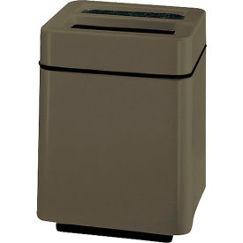 "Square Ash And Trash Receptacle, Charcoal, 40 gal capacity,24""Sq x 32""H"