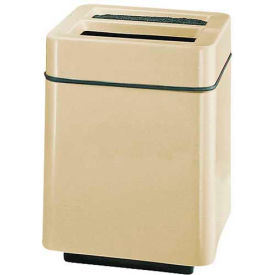 "Square Ash And Trash Receptacle, Almond, 40 gal capacity,24""Sq x 32""H"