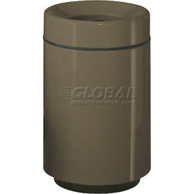"Open Top Receptacle, Charcoal, 50 gal capacity, 24""Dia x 39""H"