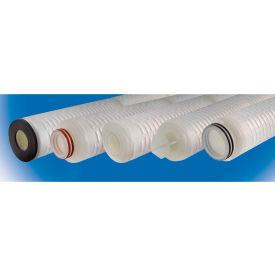 High Purity Polysulfone Cartridge Filter 0.8 Micron - 2-3/4 D x 30H EPDM Seal 222 w/Flat Cap Ends - Pkg Qty 6