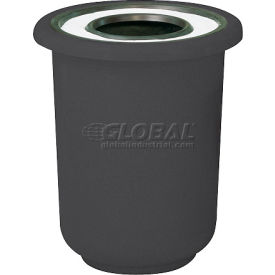 "Ash And Trash Receptacle, Black, 22 gal capacity, 27""Dia x 30""H"