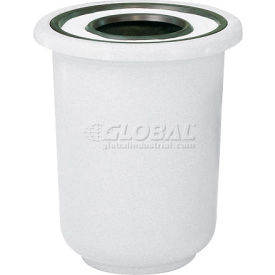 "Ash And Trash Receptacle, White, 22 gal capacity, 27""Dia x 30""H"