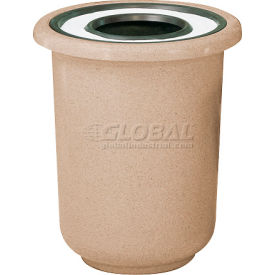 "Ash And Trash Receptacle, Brown, 22 gal capacity, 27""Dia x 30""H"