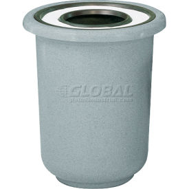 "Ash And Trash Receptacle, Gray, 22 gal capacity, 27""Dia x 30""H"