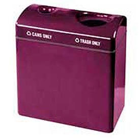 "Two Section Recycling Receptacle, Burgundy, 23 gal, 34""W x 31""H x 18""Dp"