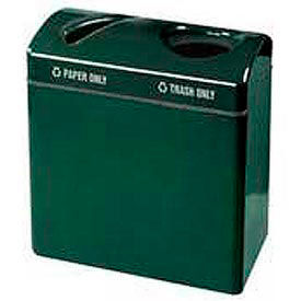 "Two Section Recycling Receptacle, Gray, 23 gal, 34""W x 31""H x 18""Dp"