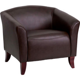 Leather Reception Chair - Brown - Hercules Imperial Series