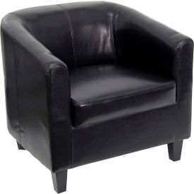 Leather Lounge Guest Chair - Black