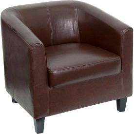 Leather Lounge Guest Chair - Brown