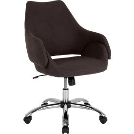 Flash Furniture Madrid Home & Office Chair - Mid Back - Fabric - Black