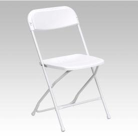 Plastic Folding Chair - White - Pkg Qty 10