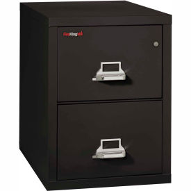 "Fireking Fireproof 2 Drawer Vertical File Cabinet - Letter Size 18""W x 31-1/2""D x 28""H - Black"