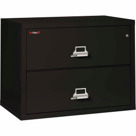 Fireking Fireproof 2 Drawer Lateral File Cabinet   Letter Legal Size 37 1/