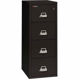 "Fireking Fireproof 4 Drawer Vertical File Cabinet - Legal Size 21""W x 25""D x 53""H - Black"