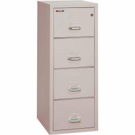 """Fireking Fireproof 4 Drawer Vertical File Cabinet - Legal Size 21""""W x 25""""D x 53""""H - Light Gray"""
