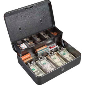 FireKing Hercules CB1210 Cash Box Keylock 5 Compartments Lift Out Tray, 11-3/4x10x4