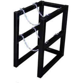 "Cylinder Tube Rack, 1 Wide x 2 Deep, 16""W x 26""D x 30""H,2 Cylinder Cap. by"