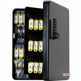 FJM Security KeyGuard Key Safe Cabinet SL-9122-E Electronic Lock 122 Key Cap 4-1/8 x 10-1/2 x 14-1/8 by