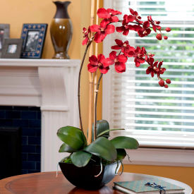 OfficeScapesDirect Vanda Orchid Silk Flower Arrangement - Red