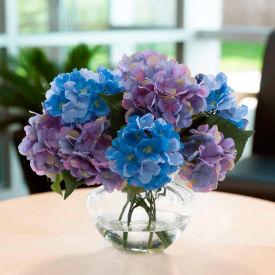 OfficeScapesDirect Hydrangea Centerpiece Silk Flower Arrangement - Lavender/Blue